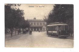 CARTOLINA DI SAVONA - 1 STAZIONE - TRAM - Savona