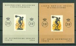 Belg. 1964  E90** / E91** MNH Jeux Olympiques Tokio / Olympische Spelen Tokio - Commemorative Labels