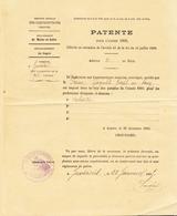 D 49 - JUVARDEIL - Patente Pour 1895 - Gaignard Joseph Au Bourg Cabaretier - 1800 – 1899