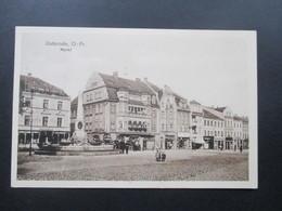 Ostpreussen Osterode Ostpr. Markt / Marktplatz. Ungelaufen - Ostpreussen