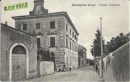 Lazio-roma-grottaferrata Palazzo Comunale Animata Veduta Della Via  Anni 20/30 - Italia