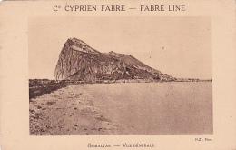 Gibraltar -- Vue Générale -- Cie Cyprien Fabre -- Fabre Line - Gibraltar