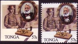 Tonga 1989 - Telegraph - Samuel Morse Code - Deluxe Proof + Specimen - Télécom