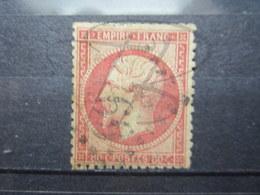 VEND TIMBRE DE FRANCE N° 24 , ROSE TERNE !!! - 1862 Napoleon III