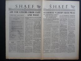 WWII WW2 Tract Flugblatt Propaganda Leaflet Newspaper, VG.24, S.H.A.E.F., Nr. 24, 7. Mai 1945, ALLIIERTE NÄHERN SICH... - Alte Papiere