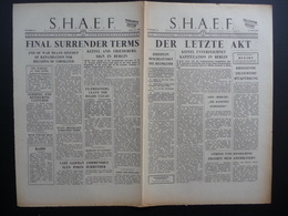 WWII WW2 Tract Flugblatt Propaganda Leaflet Newspaper, VG.26, S.H.A.E.F., Nr. 26, 10. Mai 1945 - DER LETZTE AKT... - Vieux Papiers