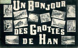 N°61547 -cpa Un Bonjour Des Grottes De Han- - Belgique