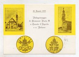 Canale D' Agordo E Belluno - 1979 - Pelleginaggio Di Giovanni Paolo II° - Con Triplo Annullo Filatelico - (FDC9446) - Belluno