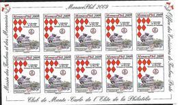 """Monaco 2009 - Vignettes Adhésives """"Monacophil 2009"""" (sans Valeur) - Unclassified"""