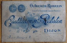 Dijon - Etablissements Robelin - Outremer  Violet De Bourgogne (teinturerie ?) - Recto : Gui Et Fleurs Tissu - (n°10597) - Publicité
