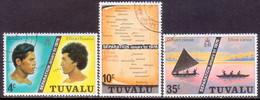 TUVALU 1976 SG #1-3 Compl.set Used Separation Of The Islands - Tuvalu