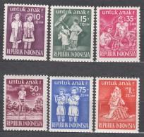 Indonesia 1954 Children Mi#128-133 Mint Never Hinged - Indonésie