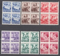 Indonesia 1957 Mi#190-195 Mint Never Hinged Blocks Of Four - Indonésie