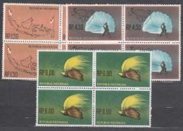 Indonesia 1963 Mi#400-402 Mint Never Hinged Blocks Of Four - Indonésie