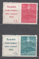 Indonesia 1963 Mi#407-408 Mint Never Hinged - Indonésie