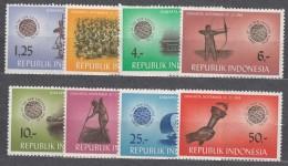 Indonesia 1963 Mi#413-420 Mint Never Hinged - Indonésie