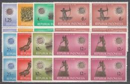 Indonesia 1963 Mi#413-420 Mint Never Hinged Blocks Of Four - Indonésie