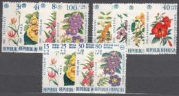 Indonesia 1965 And 1966 Flowers 3 Complete Sets, Mi#499-502 Mi#503-506 And Mi#536-539 Mint Never Hinged - Indonésie