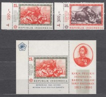 Indonesia 1967 Mi#590-591 With Block 8, Mint Never Hinged - Indonésie
