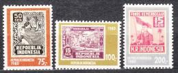 Indonesia 1980 Mi#981-983 Mint Never Hinged - Indonésie