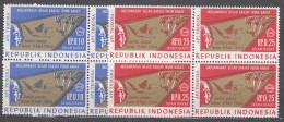 Indonesia 1968 Irian Barat - West Gunea, Mint Never Hinged Blocks Of Four - Indonésie