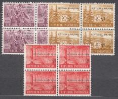 Indonesia 1961 Mi#288-290 Mint Never Hinged Blocks Of Four - Indonésie