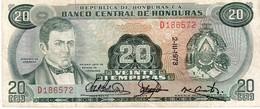 Honduras P.60 20  Lempiras 1973 Vf - Honduras