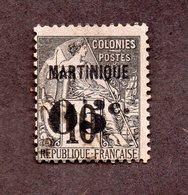 Martinique N°10 Oblitéré TB Et Signé Cote 85 Euros !!! - Martinique (1886-1947)