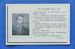 Cartolina Commemorativa - Guglielmo Oberdan - Patriota  - 1915 Ca. - Non Classificati
