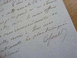 Edouard FOULD (1834-1881) Député ALLIER. Maire LURCY LEVY. Neveu Achille. Fondateur BANQUE De FRANCE. AUTOGRAPHE - Autographes