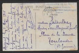 """Indre Et Loire - Ambulance De La Croix """" Aux Couleurs Françaises """" Colonie De METTRAY - Marcophilie (Lettres)"""