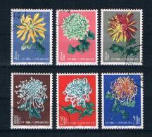 China 1961 Blumen Mi.Nr. 583/88 Kpl. Satz Gestempelt - Gebraucht