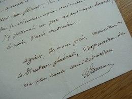 Jean Baptiste DUMAS (1800-1884) Chimiste, Pharmacien. ACADEMIE FRANCAISE. Autographe - Autographes