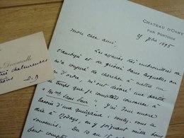Pierre DECOURCELLE (1856-1926) écrivain. - Ami De MAUPASSANT. - Autographe - Autographes