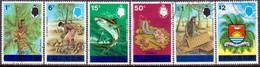TUVALU 1976 SG #14-19 Set Used All With Wmk Mult. Crown CA Diagonal Inverted - Tuvalu