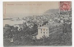 (RECTO / VERSO) SAN REMO EN 1909 - PLI VERTICAL -  BEAU TIMBRE ET CACHET - CPA VOYAGEE - San Remo