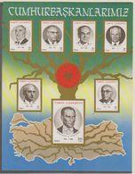 Turkey 1987 Presidents M/s ** Mnh  (38616M) - 1921-... Republiek