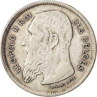 Monnaie, Belgique, 2 Francs, 2 Frank, 1909, TTB, Argent, KM:58.1 - 1865-1909: Leopold II