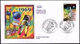 FRANCE 3355 FDC Premier Jour Le 20ème Siècle Au Fil Du Timbre : 21 Juillet 1969 Neil Amstrong Sur La Lune NASA Apollo XI - FDC
