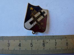 Insigne Décoration Broche Ancienne  R S M Régiment Croix Lorraine Blason écusson Tricolore étoile - Army & War