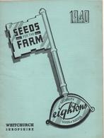 Catalogue 1940 Leightons Seeds For The Farm - Jardinage