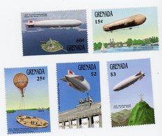 GRENADA 1988-Aire Des Dirigeables-YT 1586/90***MNH - Zeppelins