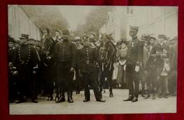 CPA CARTE PHOTO MILITARIA GUERRE - REVUE MILITAIRE CHEVAUX - BAR LE DUC MEUSE 55 (à CONFIRMER) - Bar Le Duc