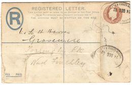 AR122) GRAN BRETAGNA - Registered Postal Stationery To North Finkley - 24 Dec 1902 - Interi Postali