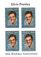 Guyana 1994 Elvis Presley Kleinbogen Hologramm Marken  Sheetlet Hologram Stamps   Rare ! - Guyana (1966-...)