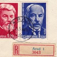 Lettre Arad 1964 Roumanie România Zurich Suisse Schweiz - 1948-.... Republics