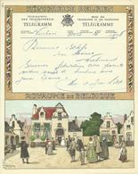 Télégramme A.6 (D.F.) Cachet HERBESTHAL 14 IV 1956 - Unclassified