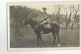 Carte Photo A Identifier  Militaire  A Cheval  Croix Rouge Sur Le Bras - Personaggi