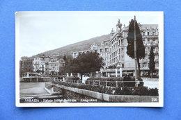 Cartolina Croazia - Abbazia - Palace Hotel Bellevue - Lungomare - 1934 - Non Classificati