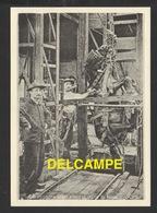 DF / 71 SAÔNE ET LOIRE / HOUILLÈRES DE BLANZY MONTCEAU LES MINES / DESCENTE D' UN CHEVAL DANS LA MINE - France